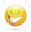 Smiley Vector Illustration - Dangerous Face