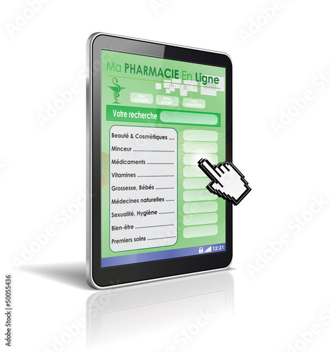 tablette tactile 3d : pharmacie en ligne