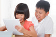 Children using digital tablet pc