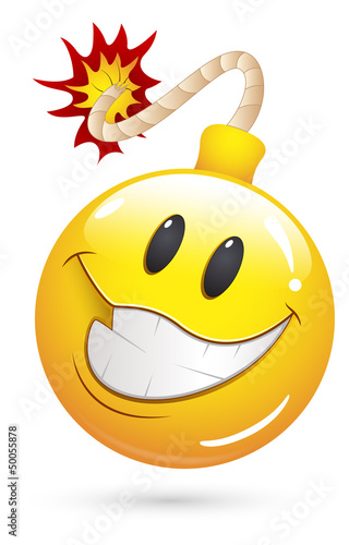 Smiley Vector Illustration - Offer Blast Bomb Face