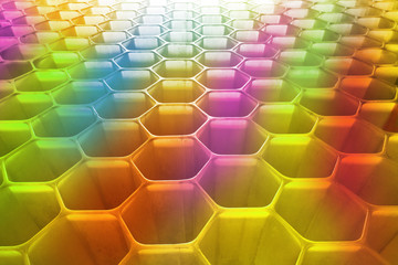 honeycomb as the perfect colourfull backdrop
