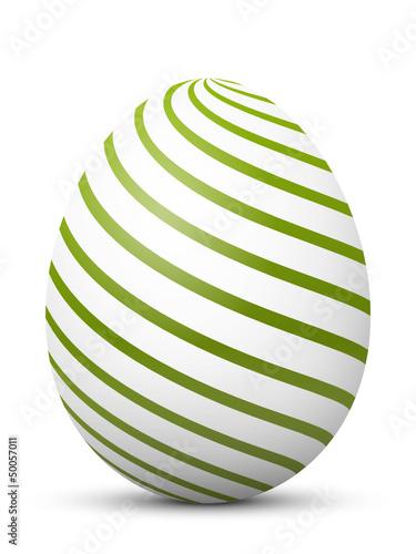 Osterei, Ostern, Ei, Muster, Grün, Spirale, Linien, abstrakt, 3D