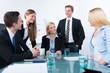 geschäftsleute sitzen in einem meeting