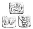 3 Bas-Reliefs : Gallic - Gaulois - Gallisch