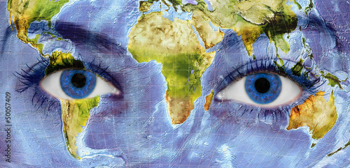 Staande foto Wereldkaart portrait of mother earth
