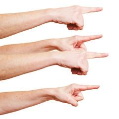 Mobbing mit ausgetreckten Fingern