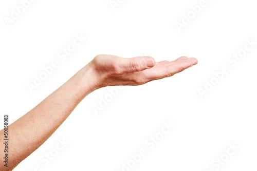 Hand mit offener Handfläche