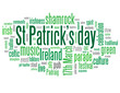 ST PATRICK'S DAY Tag Cloud (ireland shamrock parade 17th march)