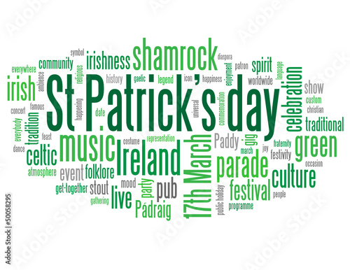 ST PATRICK'S DAY Tag Cloud (ireland shamrock parade 17th march)