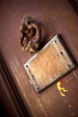 Plaque, porte, bois, pauvreté, taudis, vieux, maison