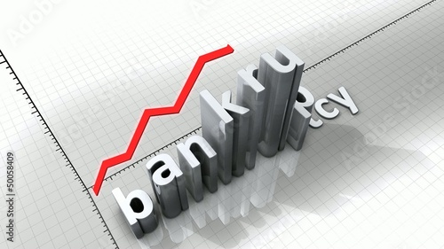 Concept animation, growing chart - Bankruptcy.
