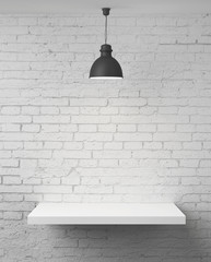 wall with shelf