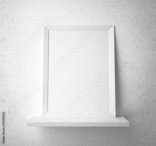 frame on shelf