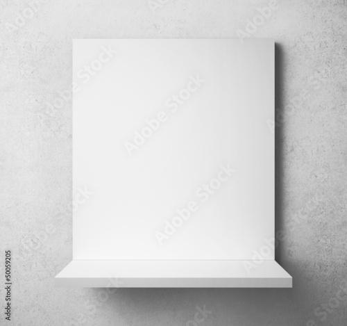 white paper frame
