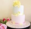 Tarta de boda decorada con fondant