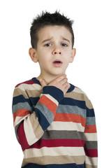 Child have sore throat sick