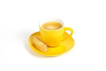 espressotasse gelb mit crostini