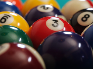 Billiard balls macro