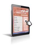 tablette tactile 3d : services en ligne poster