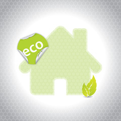 Eco house design with sticker