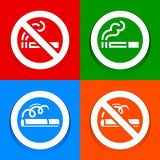 Stickers multicolored - No smoking area sign