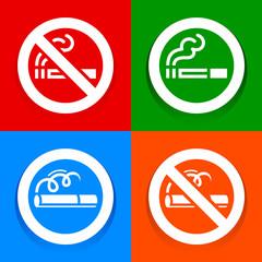 Stickers multicolored - No smoking area sign