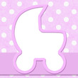 Pink Polka Dot with Ribbon Background for your message or invita