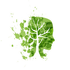 Person ecological, think green # Vector © puckillustrations