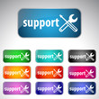 Support button- 10 color set.
