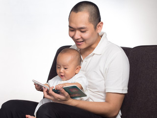 Dad Reading book
