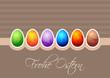 Frohe Ostern mit Bunten Ostereiern
