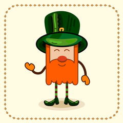 Saint Patrick. Cartoon illustration.
