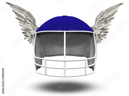 Winged Football Helmet