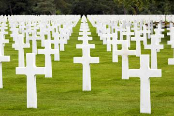 Amerikanischer Soldatenfriedhof in Colleville Sur Mer Frankreich
