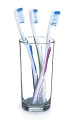 toothbrush in the glass