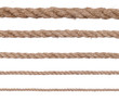 collection of various ropes on white background