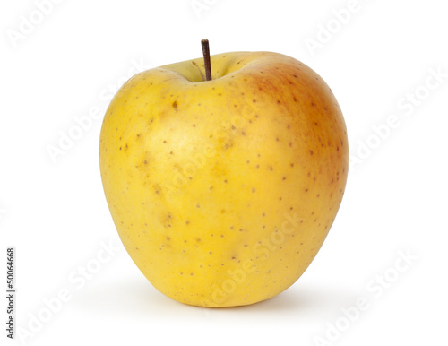 yellow apple Isolated on white background