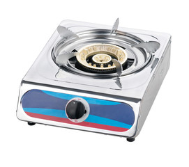 A one head metal gas stove
