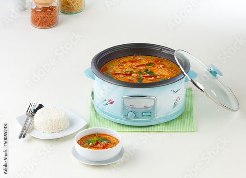 multiple purpose electric pot can rice steaming and cooking