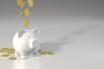 Piggy bank - falling coins