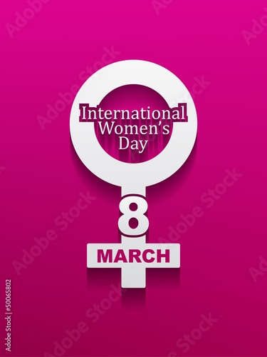 Elegant women's day background. vector illustration