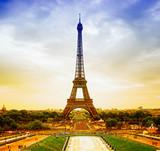 Fototapety Eiffel Tower at sunset