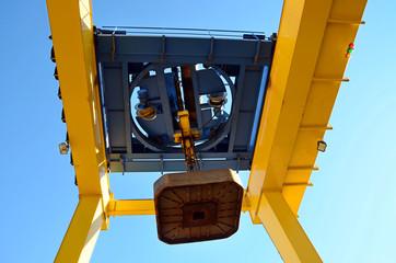 unloading platform electromagnet