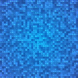 Abstract blue pixel mosaic seamless background