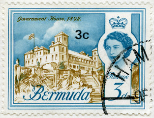 BERMUDA - 1962: shows Government House, 1892