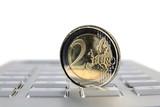Money and euro coin