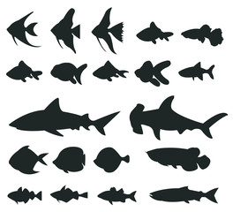 Sets of silhouette Fishes 1