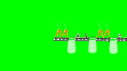 bridge from components of the computer with green screen