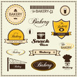 set of bakery logo badges and labels