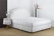 Bedding mattress in a set up bedroom atmosphere